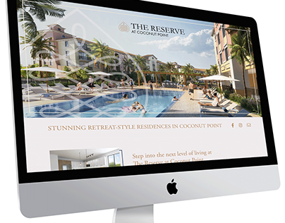 The Reserve at Coconut Point Splash Page Design