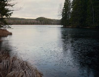 Frozen winter lake - Drared, Sweden 2016.