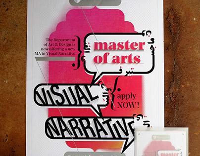 MA Visual Narrative Poster + Flyer