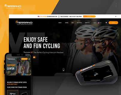 Terrano website redesign