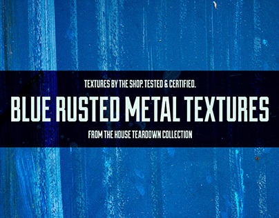 Blue rusted metal textures