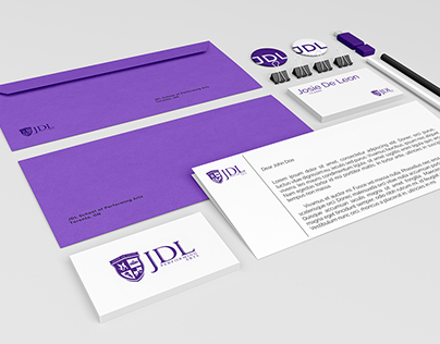 JDL School of Performing Arts Visual Identity