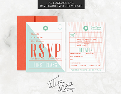 Travel + Passport Themed Wedding Stationery Templates