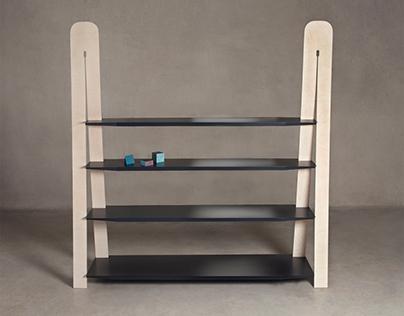 Gradient bookshelf