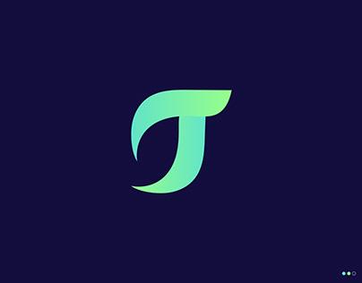 T Branding Identity Logo-Logo Design-Leaf-Modern Logo