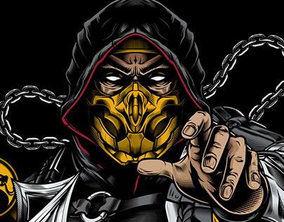 Scorpion MK11 Illustration & Sticker
