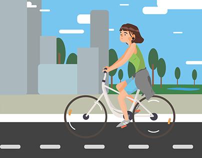 Bike Flat Design