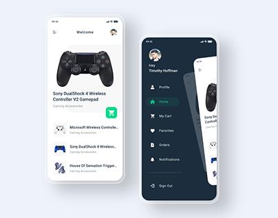 Wireless Gamepad UI Kit Exploration