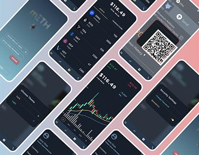 mETH - My Ethereum Wallet - A concept App design.