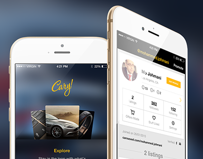 Cary! Mobile App UI & UX