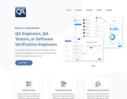 Web Agency onePage PSD Design