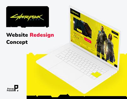 Cyberpunk 2077 - Website Redesign