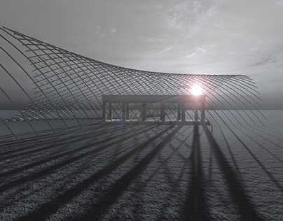 Gridshell. Parametric Structure. Programmed w/ Ptools.