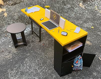 Maquete - mesa para sala de reuniões