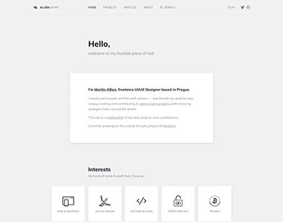 Allien.work – Personal site v3