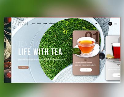 🍵Tea shop |Daily Ui Design