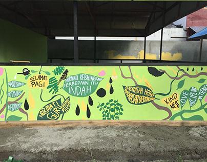 Mural Junior High School Palu Post-earthquake