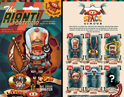 """""""Space Circus"""" - My Portfolio Design"""