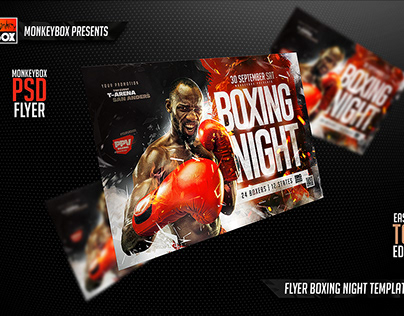 Flyer Boxing Night Template