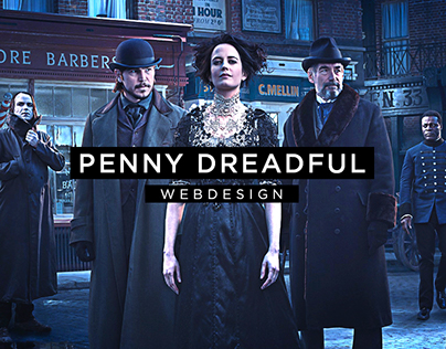 Penny Dreadful - Webdesign