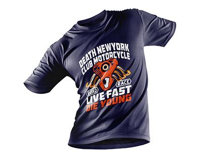 Motorcycle T-shirt Design Bundle