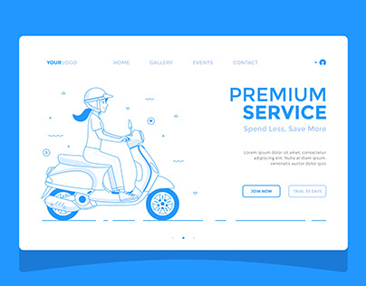 Scooter Girl - Landing Page Design