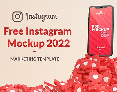 Free Instagram Mockup 2022