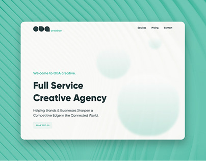 OBA Creative Agency Website