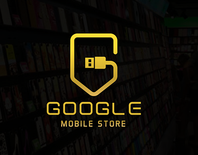 GOOGLE I mobile store logo design
