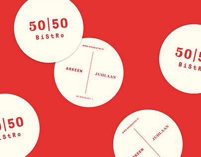50/50 Bistro restaurant identity
