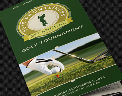 Charity Golf Tournament Brochure Template On Behance
