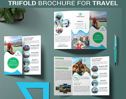 Trifold Brochure For Travel