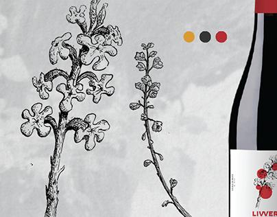 Valley Flowers I: Illustration & Study. Wine Identity.