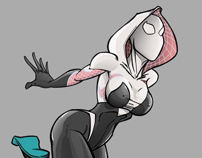 Spider Gwen colour sketch