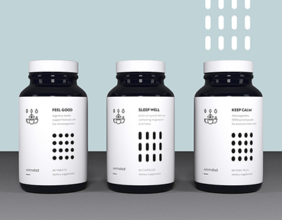 Apotheke (supplement branding & packaging)
