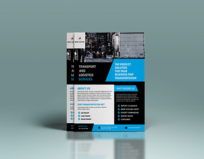Logistics company flyer design