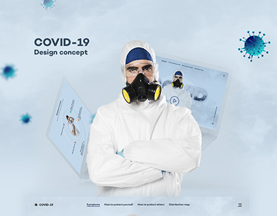 COVID-19 Neumorphism Design Concept