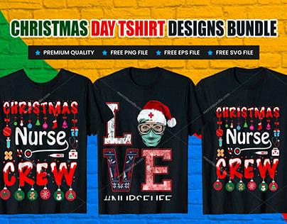 Christmas CAT, HORSE, NURSE T-Shirt Design Bundle