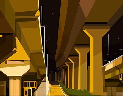 ILLUSTRATION- Night Bridge
