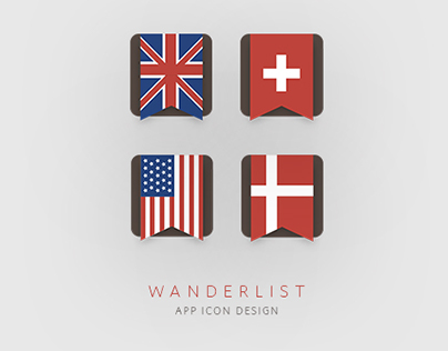 Wanderlist | App icon design