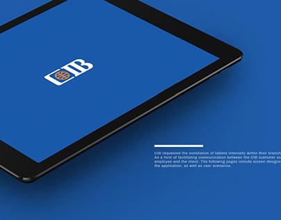 CIB | Interactive Touch Screen Application