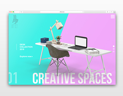 Furniture Slider - Landing Page