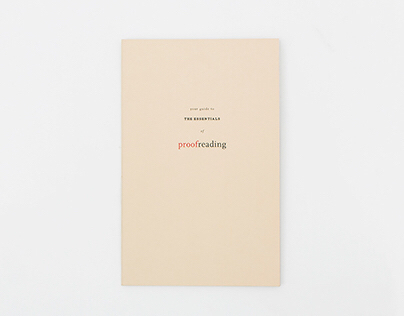 The essentials of Proofreading – Booklet