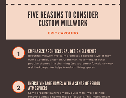 5 Reasons to Consider Custom Millwork | Eric Capolino