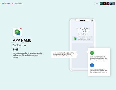 Showcase mobile app promotion mockup design
