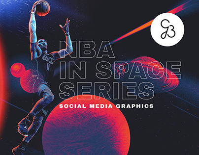 NBA in space - social media graphics