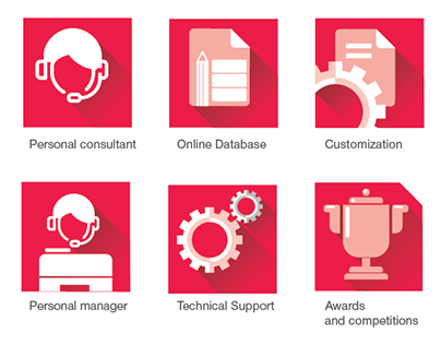 icons for juridical consulting company POS