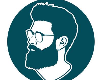 Minimalist flat cartoon avatar