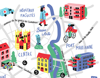 Le Particulier // illustrated map
