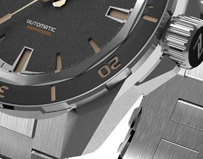 SWORDFISH 300M DIVER - Zelos watches
